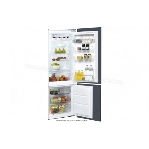 Réfrigérateur combiné encastrable WHIRPOOL 264 Litres No Frost Inox