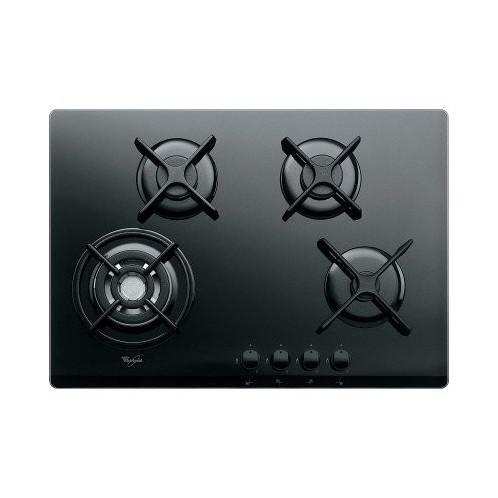 Plaque de cuisson en verre avec thermocouple WHIRPOOL 4 Feux Noir